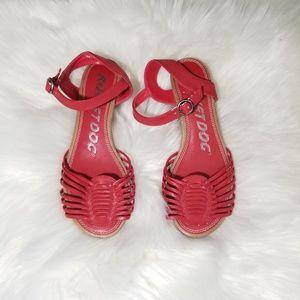 Rocket Dog Red Sandals Wedge